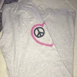 PINK Victoria Secret Peace & Love Sweatpants